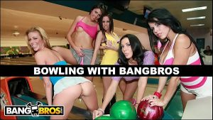 Image BANGBROS – Bowling For Pornstars With Rachel Starr, Diamond Kitty, Alexis Fawx, Brandy Aniston, and Anastasia Morna