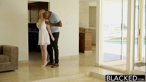Image BLACKED  Blonde Babysitter Trillium Fucks her Black Boss