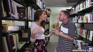 Image Pounding a hot teen brunette (Joseline Kelly) in the Library
