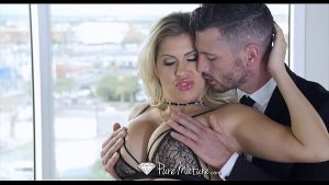 Image PureMature – Couple play with a leash around MILF Savana Styles neck
