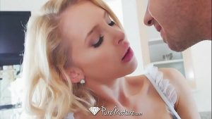 Image PureMature Whip cream kitchen fuck with mature blonde Alix Lynx