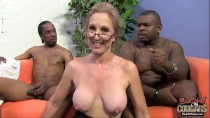 Image Two black guys are in love with their granny teacher